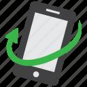 mobile, phone, rotation, telephone icon