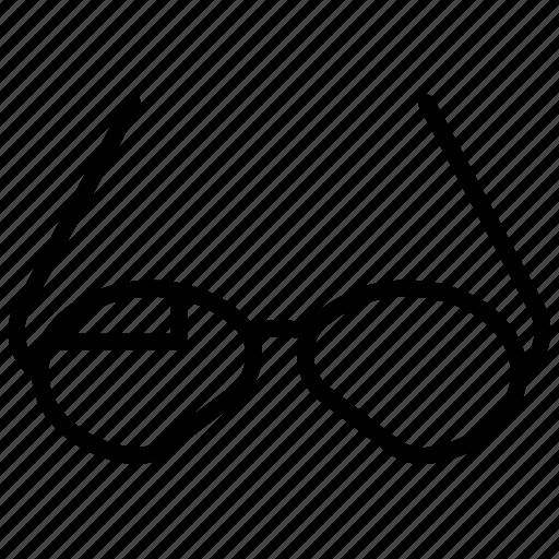 crack, eyesight, fashion, frame, glasses, goggle, optical icon