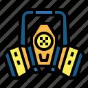 gas, mask, respirator, reusable, security, toxic