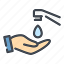 hand, wash, clean, water, drop, tap