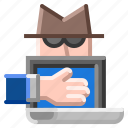 computer, crime, hacker, internet, security, technology icon