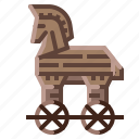 ancient, horse, security, trojan, virus icon