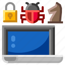 computer, internet, malware, security, virus icon