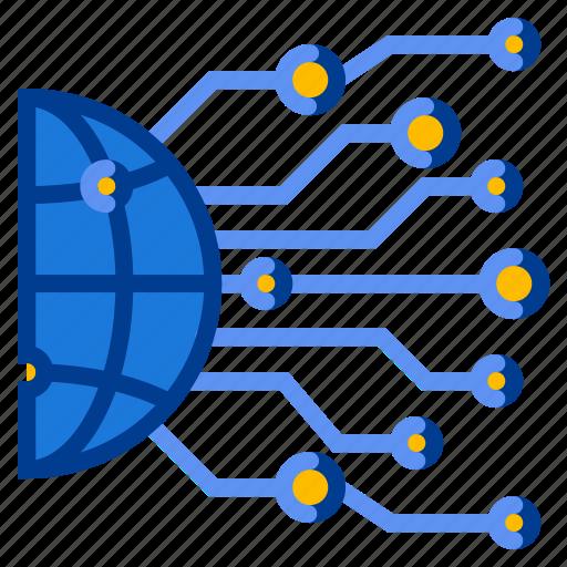Data, internet, network, globe icon - Download on Iconfinder