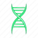 biology, biotechnology, cartoon, chain, dna, molecule, science