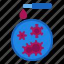 bacteria, coronavirus, covid, dish, laboratory, petri, virus icon