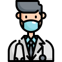 avatar, doctor, face, man, mask, sick