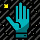 gloves, virus, transmission, crime, attack