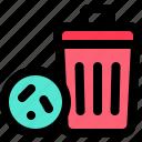 bacteria, bin, carrier, germ, junk, transmission, virus icon