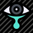 eye, secretion, tear, transmission icon