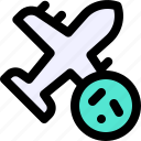 carrier, plane, transmission, transport, vehecle, virus icon