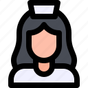 avatar, jon, nurse, professional, woman icon