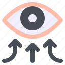 conjunctiva, contact, eye, infect, infection, transmission icon