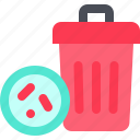 bacteria, bin, carrier, germ, junk, transmission, virus icon
