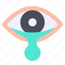 eye, secretion, tear, transmission icon