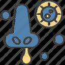 nose, respiration, transmission icon