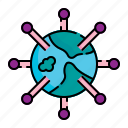 bacteria, cell, disease, infection, microbe, pandemia, virus icon