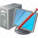 computer, desktop, edit, monitor, pc icon