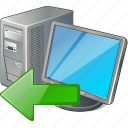 computer, desktop, import, monitor, pc icon