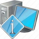 computer, desktop, info, monitor, pc icon