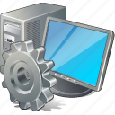 computer, desktop, monitor, pc, settings icon