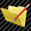 category, edit, folder, open