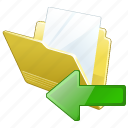 document, file, folder, import icon