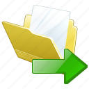 document, export, file, folder icon