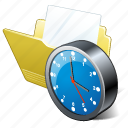 clock, document, file, folder icon