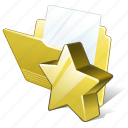 document, favorite, file, folder icon