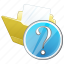 document, file, folder, question icon
