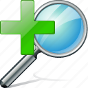 in, search, zoom icon