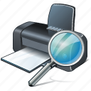 print, printer, search icon