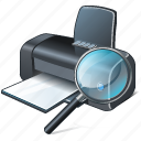print, printer, search2 icon
