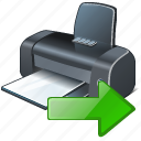export, print, printer icon