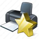 favorite, print, printer icon