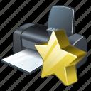 favorite, print, printer icon