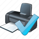 ok, print, printer icon