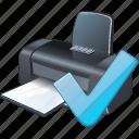 ok, print, printer icon