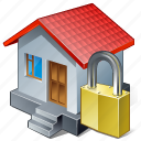building, home, house, locked icon