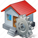 building, home, house, settings icon