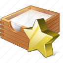box, documents, favorite, office, paper icon