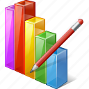 analytics, bar, chart, edit, graph, statistics, stats icon