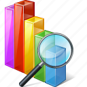 analytics, bar, chart, graph, search, statistics, stats icon