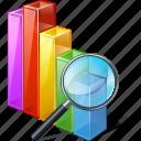 analytics, bar, chart, graph, search, statistics, stats