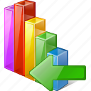 analytics, bar, chart, graph, import, statistics, stats icon