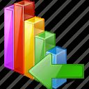 analytics, bar, chart, graph, import, statistics, stats