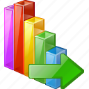 analytics, bar, chart, export, graph, statistics, stats icon