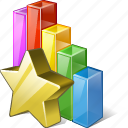analytics, bar, chart, favorite, graph, statistics, stats icon