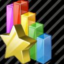 analytics, bar, chart, favorite, graph, statistics, stats